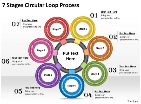 1013 Business Ppt Diagram 7 Stages Circular Loop Process