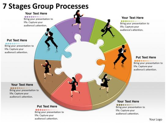 1013 Business Ppt Diagram 7 Stages Group Processes