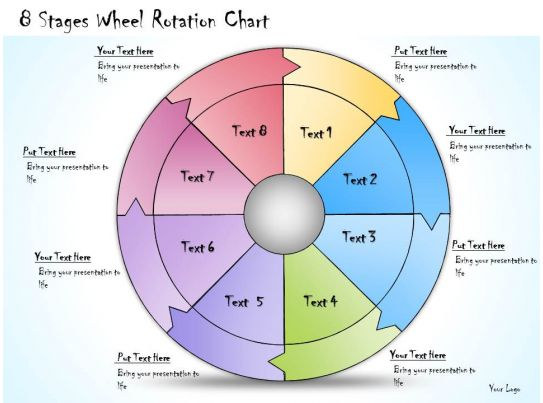 1013 business ppt diagram 8 stages wheel rotation chart powerpoint