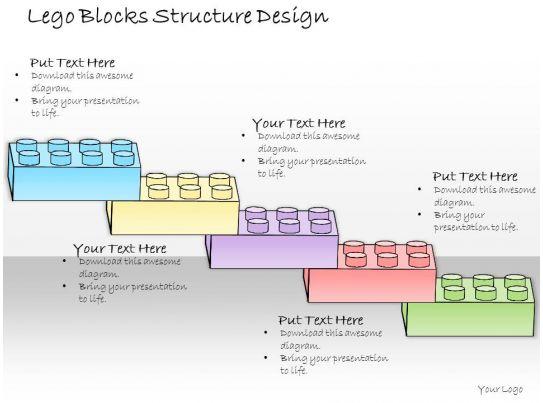 1013 business ppt diagram lego blocks structure design powerpoint template