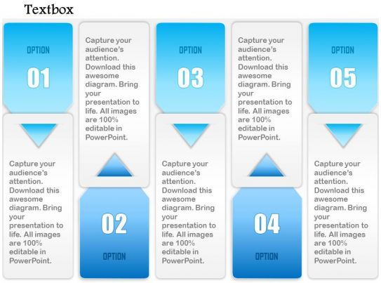 1014 Business Plan Five Options Arrow Insert Textbox Powerpoint ...
