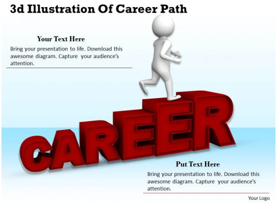 1113 3d illustration of career path ppt graphics icons