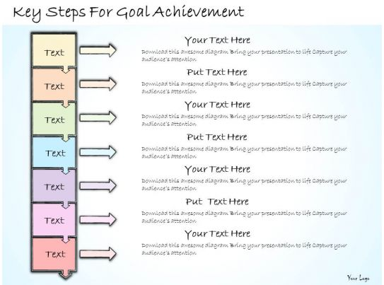 1113 business ppt diagram key steps for goal achievement powerpoint template template. Black Bedroom Furniture Sets. Home Design Ideas