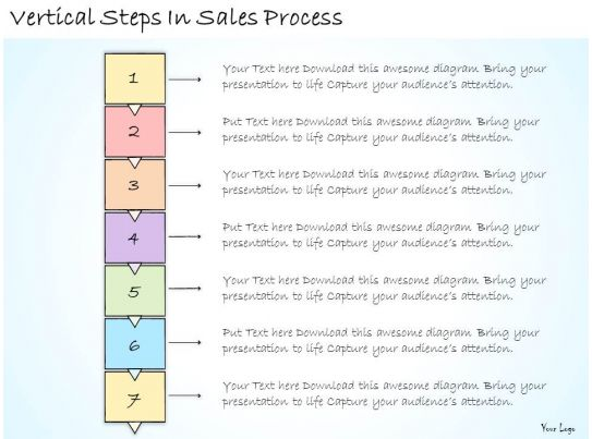 1113 business ppt diagram vertical steps in sales process for Business process catalogue template