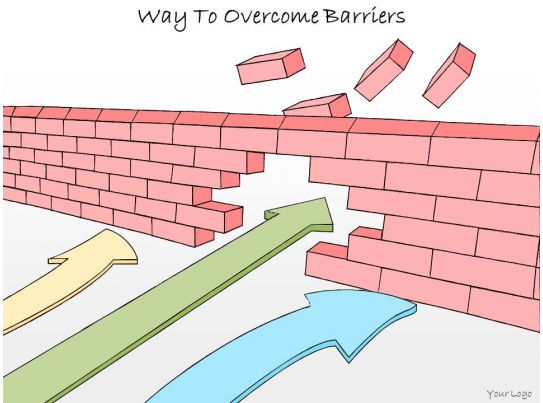 1113 business ppt diagram way to overcome barriers