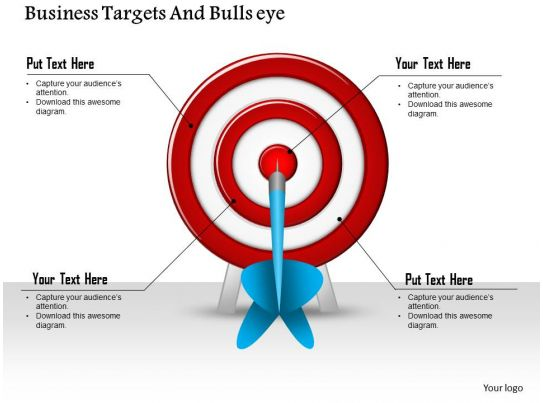 1114 business targets and bullseye powerpoint presentation for Bullseye chart template