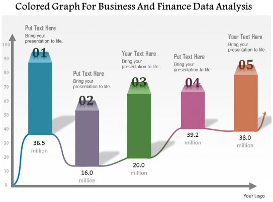 1114 colored graph for business and finance data analysis