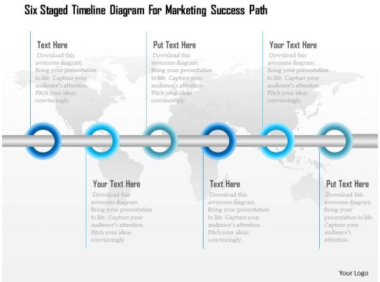 1114 six staged timeline diagram for marketing success
