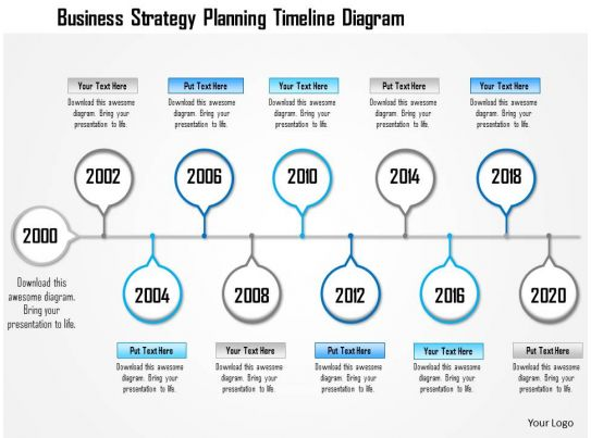 1214 Business Strategy Planning Timeline Diagram