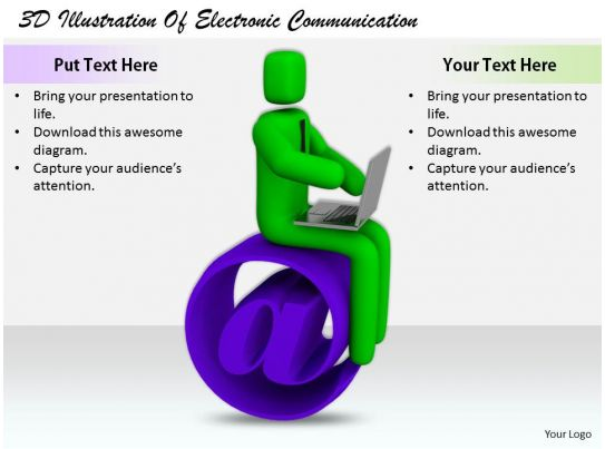 1813 3D Illustration Of Electronic Communication Ppt ...