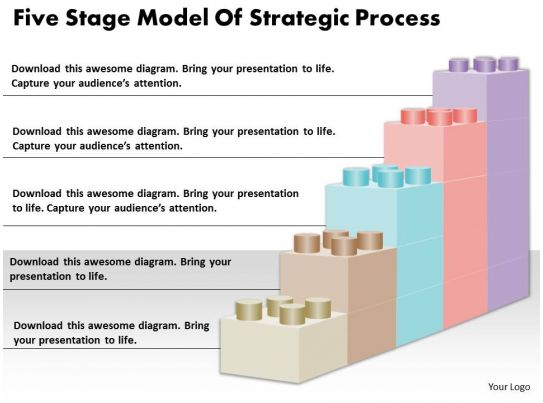 business process catalogue template - 1813 business ppt diagram five stage model of strategic