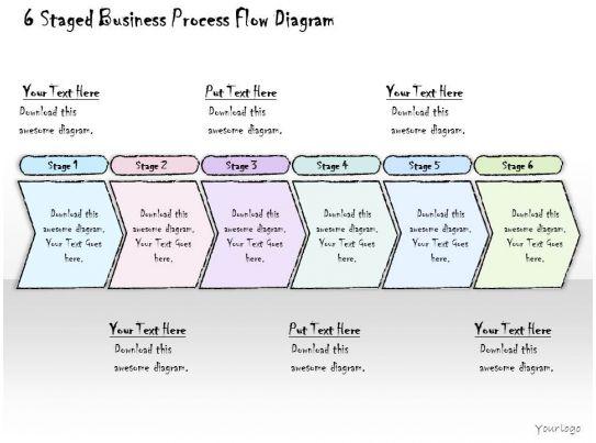 1814 business ppt diagram 6 staged business process flow diagram