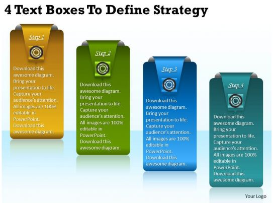 define template in powerpoint - 2013 business ppt diagram 4 text boxes to define strategy