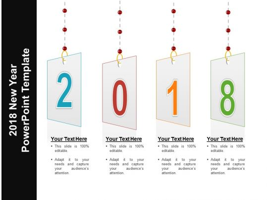 2018 new year powerpoint template powerpoint slides