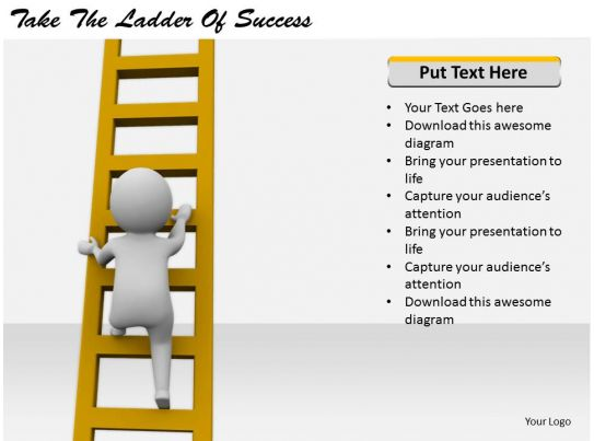 2413 business ppt diagram take the ladder of success for Step ladder risk assessment template