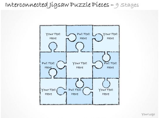 4 Piece Jigsaw Puzzle Template 9 Piece Jigsaw Puzzle Template