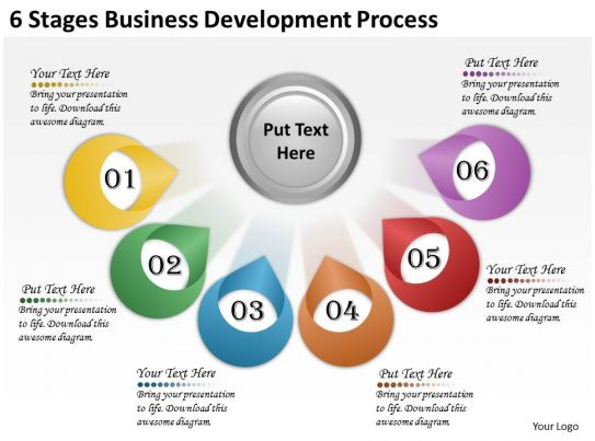 2613 business ppt diagram 6 stages business development for Company product development
