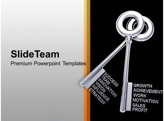 2 Silver Keys Interconnected Success Powerpoint Templates Ppt Themes