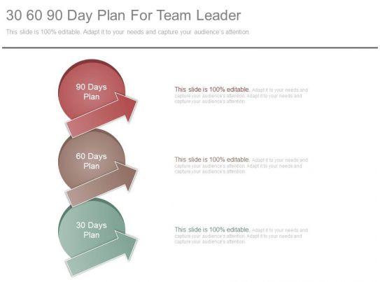 30 60 90 Day Plan For Team Leader Ppt Slides Powerpoint