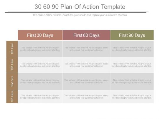 30 60 90 plan of action template powerpoint templates for 30 60 90 action plan examples template