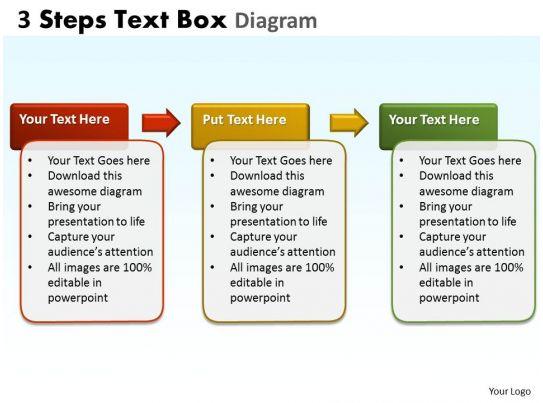 3 Steps Text Box Diagram 2