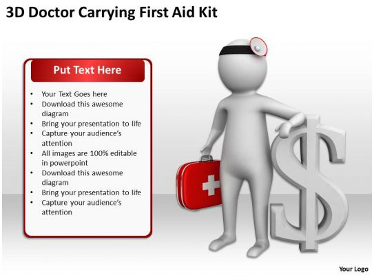 3d doctor carrying first aid kit ppt graphics icons powerpoint powerpoint presentation images. Black Bedroom Furniture Sets. Home Design Ideas