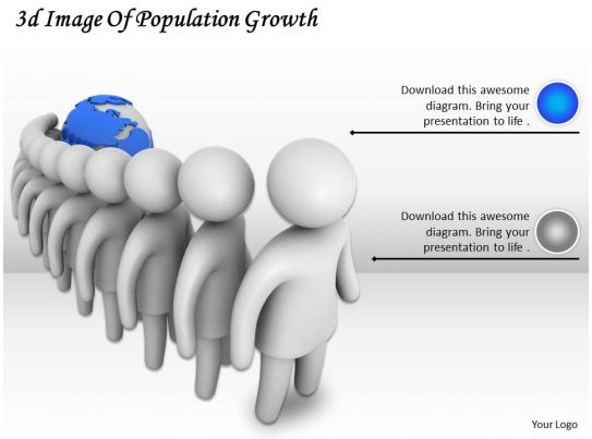 3d image of population growth ppt graphics icons powerpoint. Black Bedroom Furniture Sets. Home Design Ideas