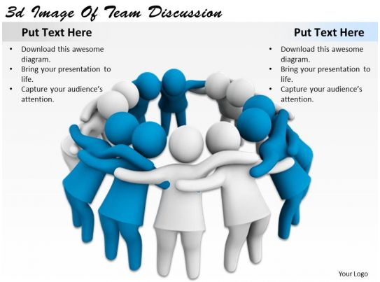3d image of team discussion ppt graphics icons powerpoint