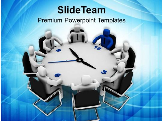 3d man business conference meeting leadership powerpoint templates