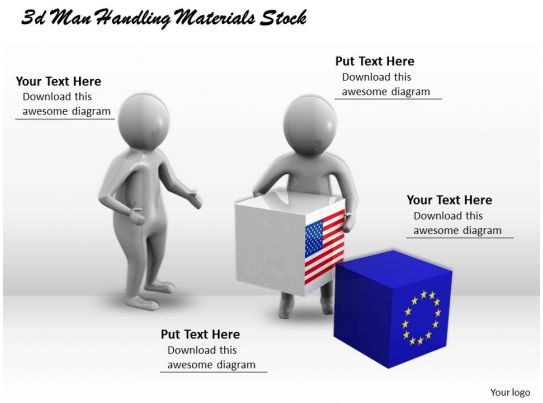 3d men handling materials stock ppt graphics icons