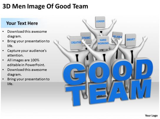 3d Men Image Of Good Team Ppt Graphics Icons Powerpoint