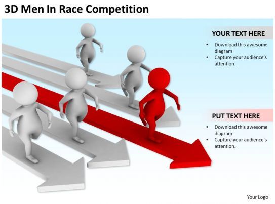 3d men in race competition ppt graphics icons powerpoint