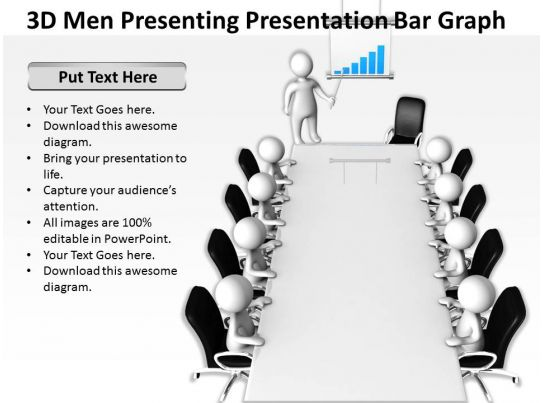 3d Men Presenting Presentation Bar Graph Ppt Graphics Icons Powerpoint on Presenting A Thesis Statement