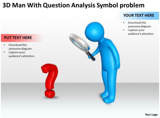 3d Men With Question Analysis Symbol Problem Ppt Graphic