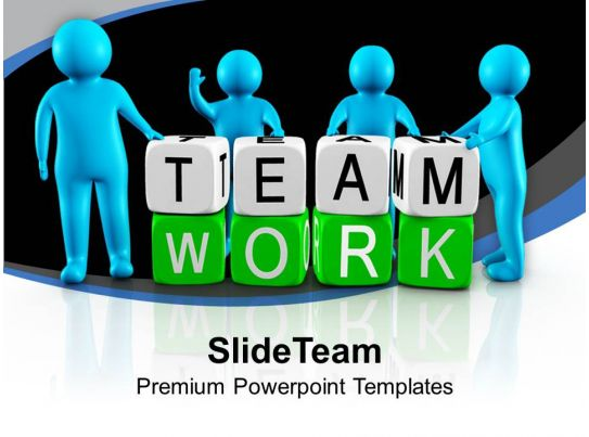 3d Men Working As Team Teamwork Powerpoint Templates Ppt Themes And