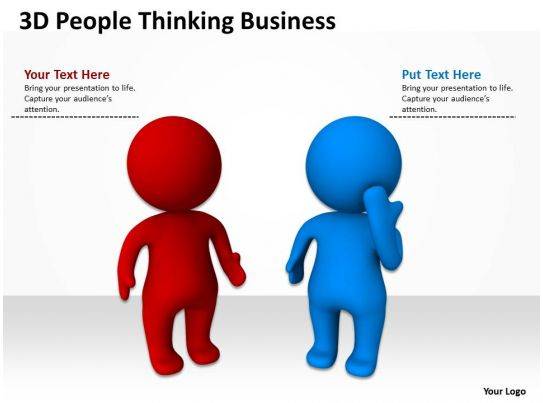3d People Thinking Business Ppt Graphics Icons on Presenting A Thesis Statement