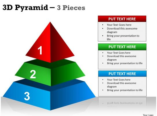 3d pyramid 3 pieces ppt 1 powerpoint presentation templates ppt