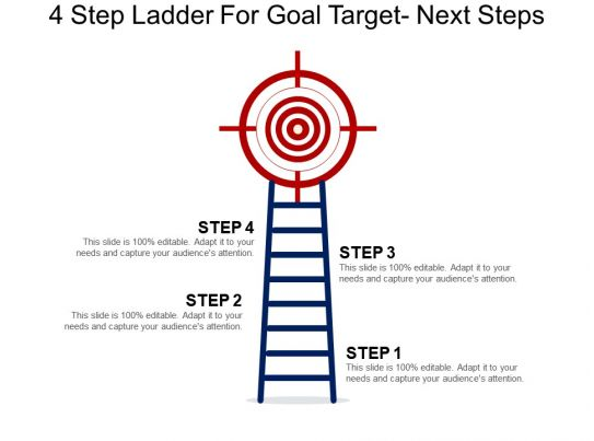 4 step ladder for goal target next steps powerpoint guide for Step ladder risk assessment template