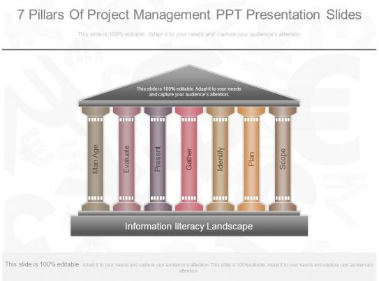7 pillars of project management ppt presentation slides