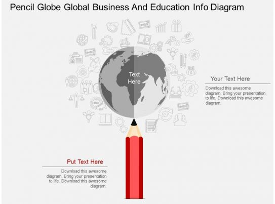 A pencil globe global business and education info diagram for Global design firm