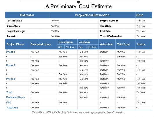 A preliminary cost estimate powerpoint templates download ppt a preliminary cost estimate powerpoint templates download ppt background template graphics presentation toneelgroepblik Gallery
