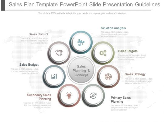 A Sales Plan Template Powerpoint Slide Presentation Guidelines