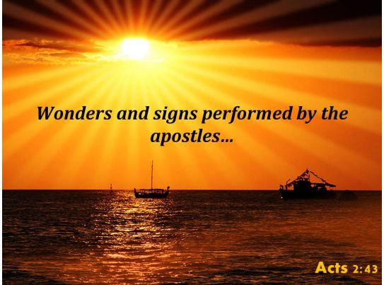 acts 2 43 signs performed by the apostles powerpoint