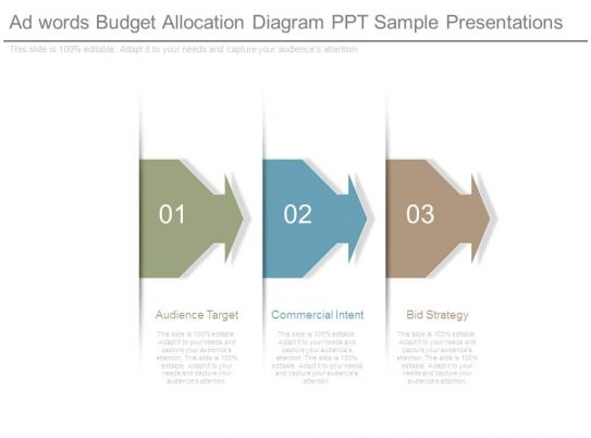 Ad Words Budget Allocation Diagram Ppt Sample Presentations