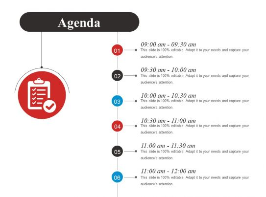 agenda powerpoint slide design ideas