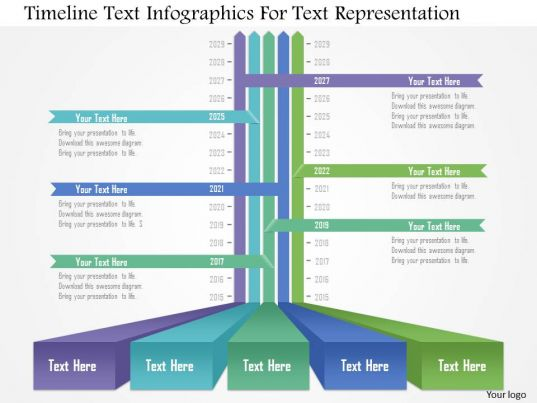 Awesome Corporate Presentation Showing Ap Timeline Text