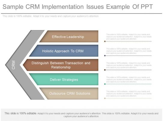 Apt Sample Crm Implementation Issues Example Of Ppt