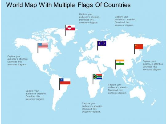 apt world map with multiple flags of countries flat