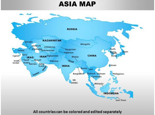 Continent Of Asia Map HWGO – Free Map of Asia