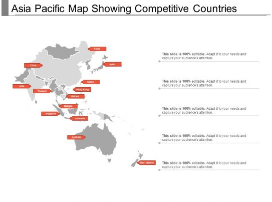 Asia Pacific Map Showing Competitive Countries